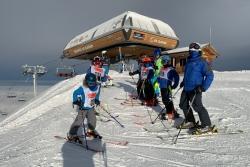journée hivernale avec les courageux de la compétition